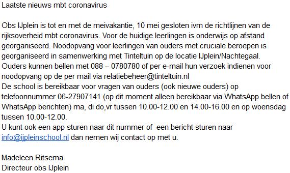IJplein_Corona_info