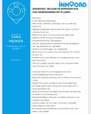 Een mooi gedicht over diversiteit geschreven door Yara Meinen. Zij is een student die Madeleen opleidt voor het werkveld 👏🏼